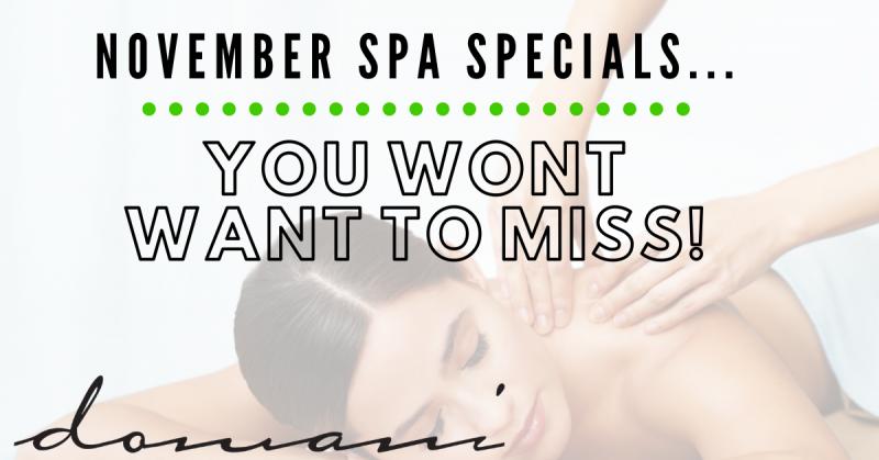 November Spa Specials…..