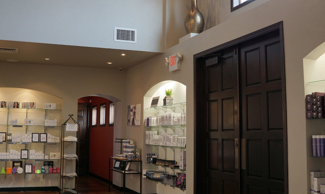Products at Domani Salon and Spa