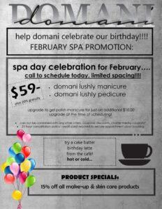 Domani February Spa Promo